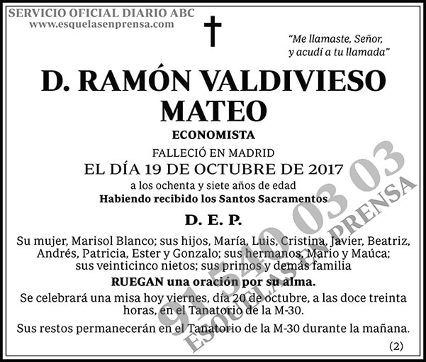Ramón Valdivieso Mateo